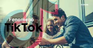 ragazzi che fanno video, titolo fenomeno TikTok, logo TikTok